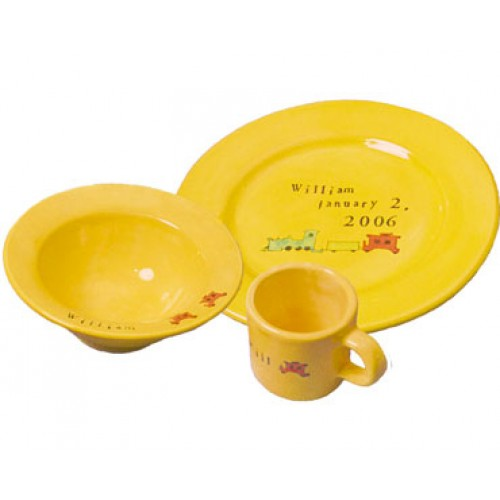 Baby Bright Train Dishes