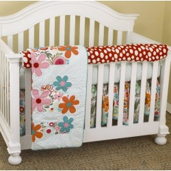 Lizzie Front Crib Rail Cover Up Set