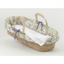 Periwinkle Moses Basket (Girl)