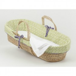 Periwinkle Moses Basket (Boy)