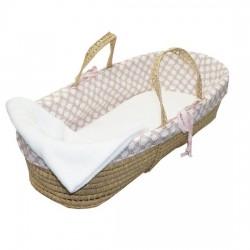 Sweet & Simple Pink Moses Basket