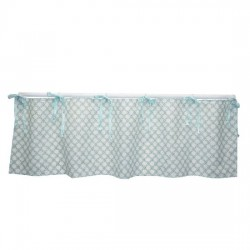 Sweet & Simple Aqua Balloon Valance