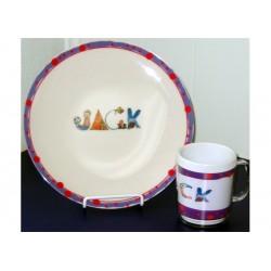 Personalized Melamine Plate and Mug