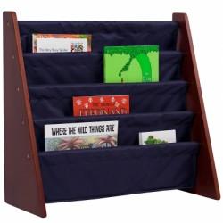 Cherry w/ Blue Bookcases