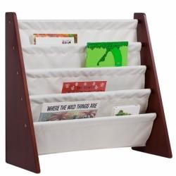Cherry w/ Tan Bookcases